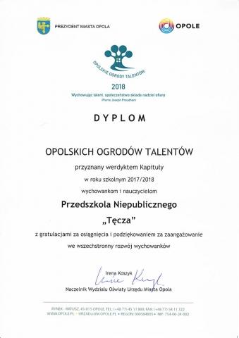 Przedszkole Niepubliczne Tęcza Opole